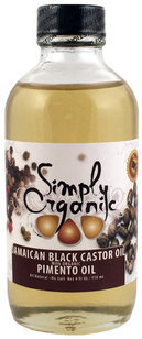 Simply Organic Jamaican Black Castor Oil with Organic Pimento Oil 4 fl oz