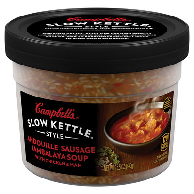 Campbell's® Slow Kettle® Style Andouille Sausage Jambalaya Soup Microwaveable Bowl