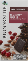 Hershey's Brookside Dark Chocolate Bar Cranberry Almond with Blood Orange
