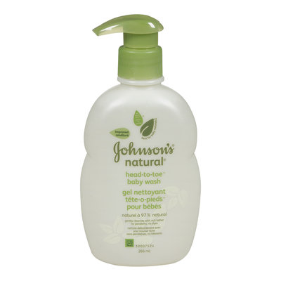 Johnson's Natural Head-to-toe Baby Wash 266mL
