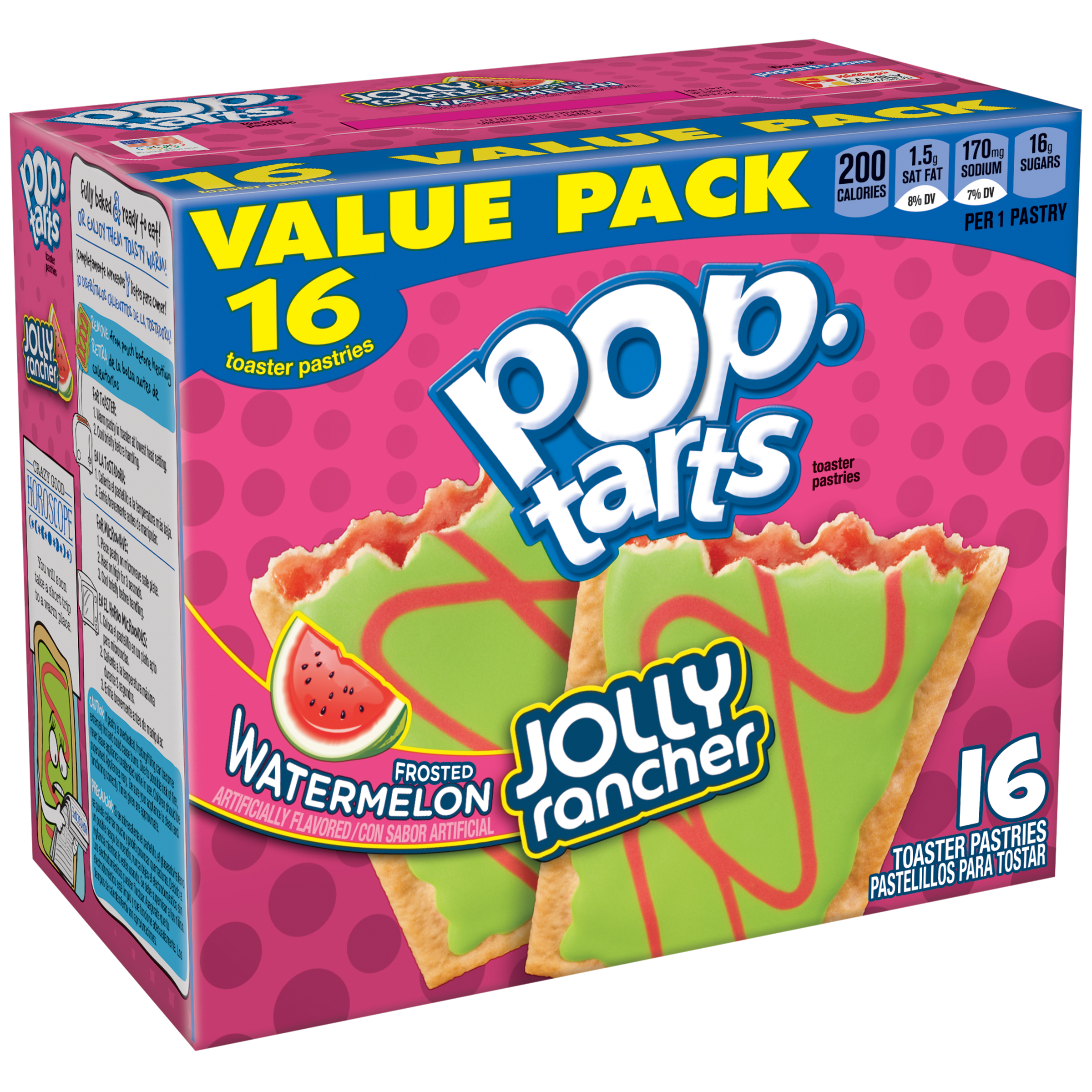 Kellogg's Pop-Tarts Jolly Rancher Frosted Watermelon Toaster Pastries