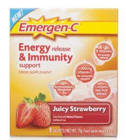 Emergen-C Energy Release & Immunity Support Juicy Strawberry