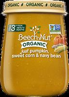 Beech-Nut organic just pumpkin, sweet corn & navy bean