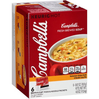 Campbell's® Fresh-Brewed Soup Homestyle Chicken Broth & Noodle Soup Mix Coffee Podss