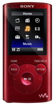 Sony 8GB Red Walkman MP3 Player - NWZE384RED