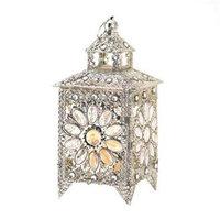 Koolekoo Crown Jewels Silver-tone Candle Lantern 13.5