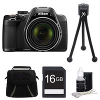 Nikon COOLPIX P520 18.1 MP 42x Zoom Digital Camera - Black Plus 16GB Memory Kit