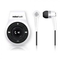 NoiseHush NS560 White Clip-On Bluetooth Wireless Headset