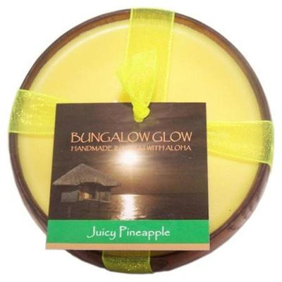 Bubble Shack Hawaii 492773500823 Juicy Pineapple Poi Bowl Candles - Pack of 2