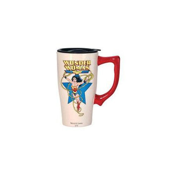 Spoontiques Wonder Woman White Travel Mug with Handle