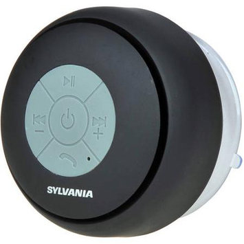 Sylvania Sp230-black Bluetooth[r] Suction Cup Shower Speaker [black]