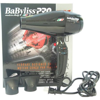 Babyliss PRO V1 Volare Ferrari Designed Engine Hair Dryer - Model # BABFV1C - Black by BaBylissPRO for Unisex - 1 Pc Hair Dryer
