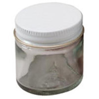 Frontier Natural Products - Glass Jar with White Metal Cap - 1 oz.