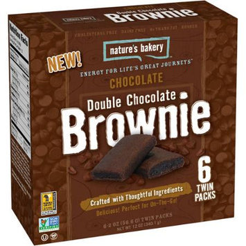 Nature's Bakery Double Chocolate Brownie Chocolate 6 Twin Packs