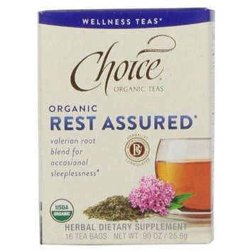 Choice Organic Teas - Wellness Teas Rest Assured - 16 Tea Bags