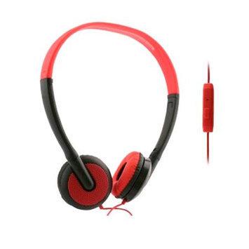 UMA - Lightweight Universal 3.5mm Stereo Headphones - Black/Red