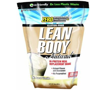 Labrada Lean Body Hi Protein Meal Replacement Shake, Natural Vanilla, 24oz