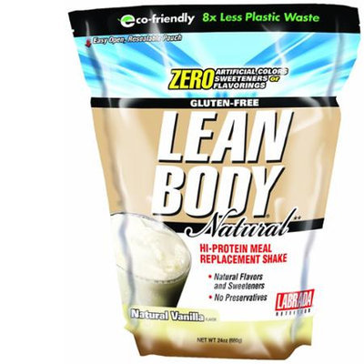 Labrada Lean Body Hi Protein Meal Replacement Shake, Natural Vanilla, 24oz