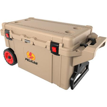 Pelican 32-80Q-MC-TAN Elite Cooler With Built - In Wheels