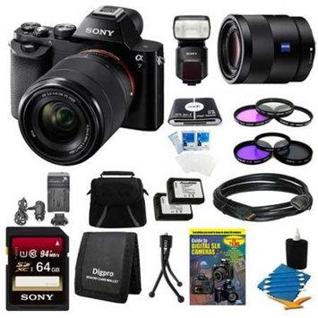 Sony Alpha 7K a7K with 55mm f1.8 Lens, HVL-F60M Flash and More