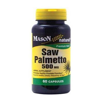 Mason Natural, Saw Palmetto 500 mg, 60 Capsules