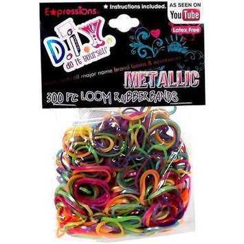Almar Sales Shimmery Metallic Loom Rubber Bands with Clasps