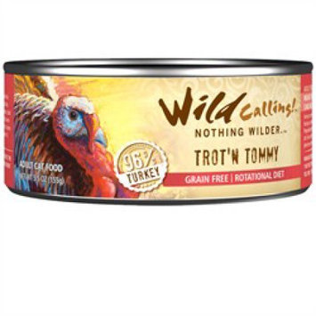 Wild Calling Trot'n Tommy Turkey Canned Cat Food 5.5 oz (Case of 24)