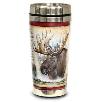 Ideaman American Expediton STMG-105 Bull Moose 16-oz. Steel Travel Mug