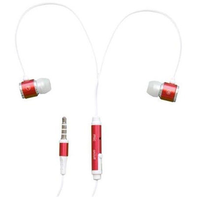 Rnd Accessories RND Noise Reducing Ear Buds with built-in microphone (red)