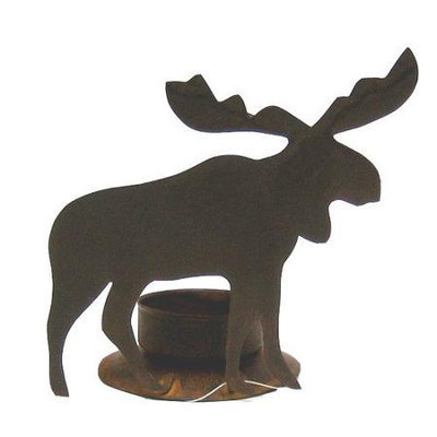 Craft Outlet Tin Moose Hurricane (Set of 2)