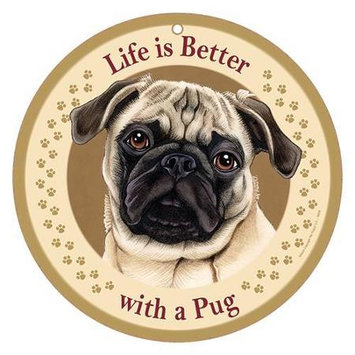 Sjt Enterprises Life Is Better Breed Plaque Pug