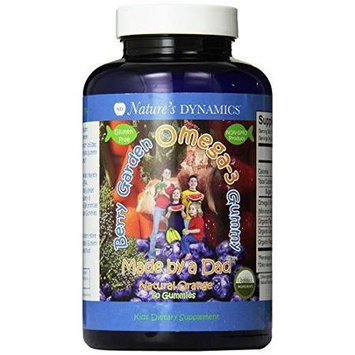 Natures Dynamics Nature's Dynamics - Berry Garden Gummy Whole Food Omega-3 Orange - 60 Gummies