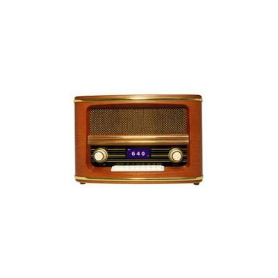 Wolverine Data Retro Style Bluetooth Speaker & AM/FM Radio Combo