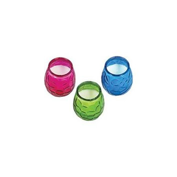 Colored Glass Citro Candle 1410108 by Lamplight Farms