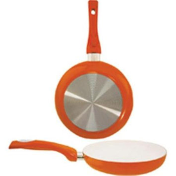 Dura Kleen Dura-Kleen 8120-O 8 In. Ceramic Co Frypan Orange