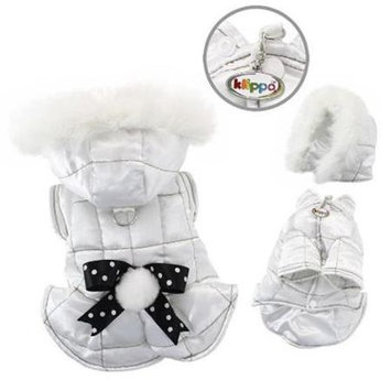 Klippo Pet, Inc Klippo Pet KJK056LZ Snow Princess Parka With Detachable Hood - Large