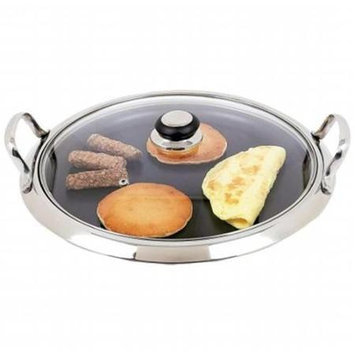 Chef KTGRID2G Chef 12 in. Ss Round Non Stick Griddle