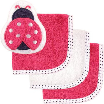 Baby Vision Luvable Friends 3 Pack Washcloths with Toy - Ladybug