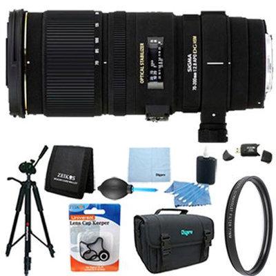 Sigma 70-200mm f/2.8 APO EX DG HSM OS FLD Zoom Lens for Canon DSLRs Lens Kit Bundle