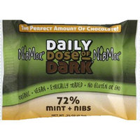 Nibmor Daily Dose Of 72% Dark Chocolate With Mint 0.35 Ounce -Pack of 60