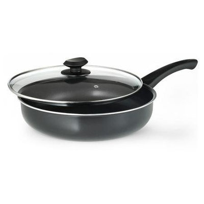 Ecolution Skillets & Fry Pans Elements 11 in. Deep Cooker with Lid in Grey Non stick EEGY-9528