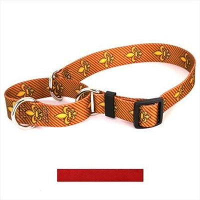 Yellow Dog Design M-RED102M Solid Red Martingale Collar - Medium