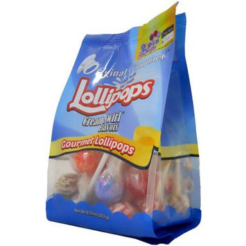 Original Gourmet Cream Swirl Flavors Mini Lollipops, 25 count