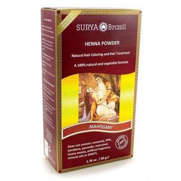Surya Brasil - Henna Brasil Powder Natural Hair Coloring Mahogony - 1.76 oz.