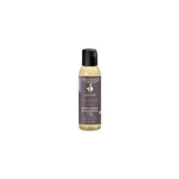 Soothing Touch - Ayurveda Organic Bath Body & Massage Oil Calming Lavender - 4 oz.