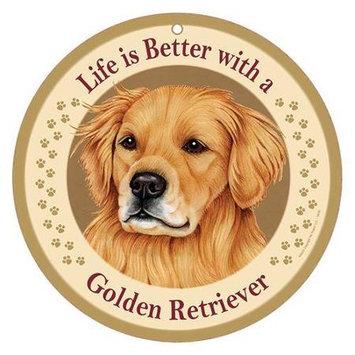 Sjt Enterprises Life Is Better Breed Plaque Golden Retriever