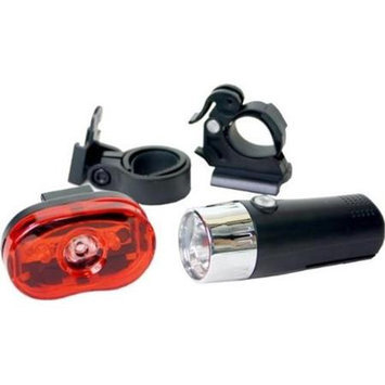 DUO Bicycle Parts BL28400605W Bicycle Light No. 284-006-0.5W 2 Pack 2 and 3AAA