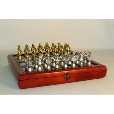 Royal Chess R71654-CCT Camelot Gold & Silver Cherry Chest - Chess Sets Resin