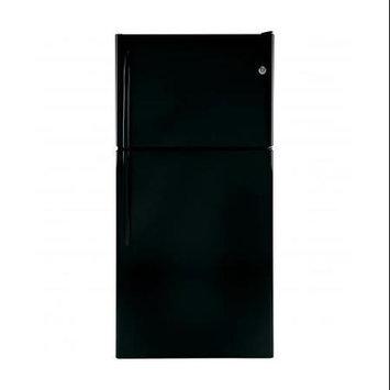 GE - 200 Cu Ft Top-Freezer Refrigerator - Black