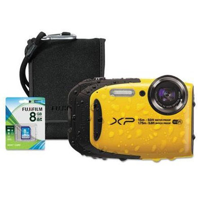 Fuji XP80 Digital Camera Bundle, Tracking Auto Focus, 16 MP, Black